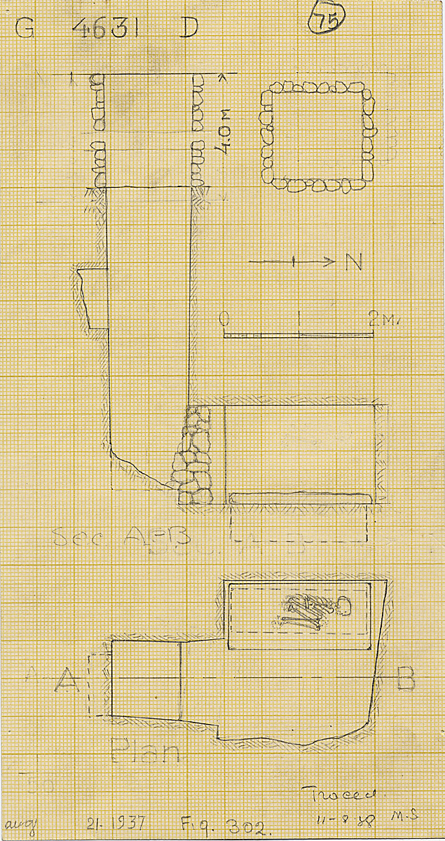 Maps and plans: G 4631, Shaft D (II)
