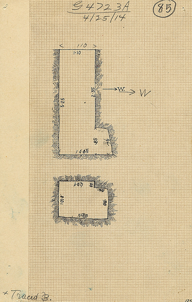Maps and plans: G 4723, Shaft A