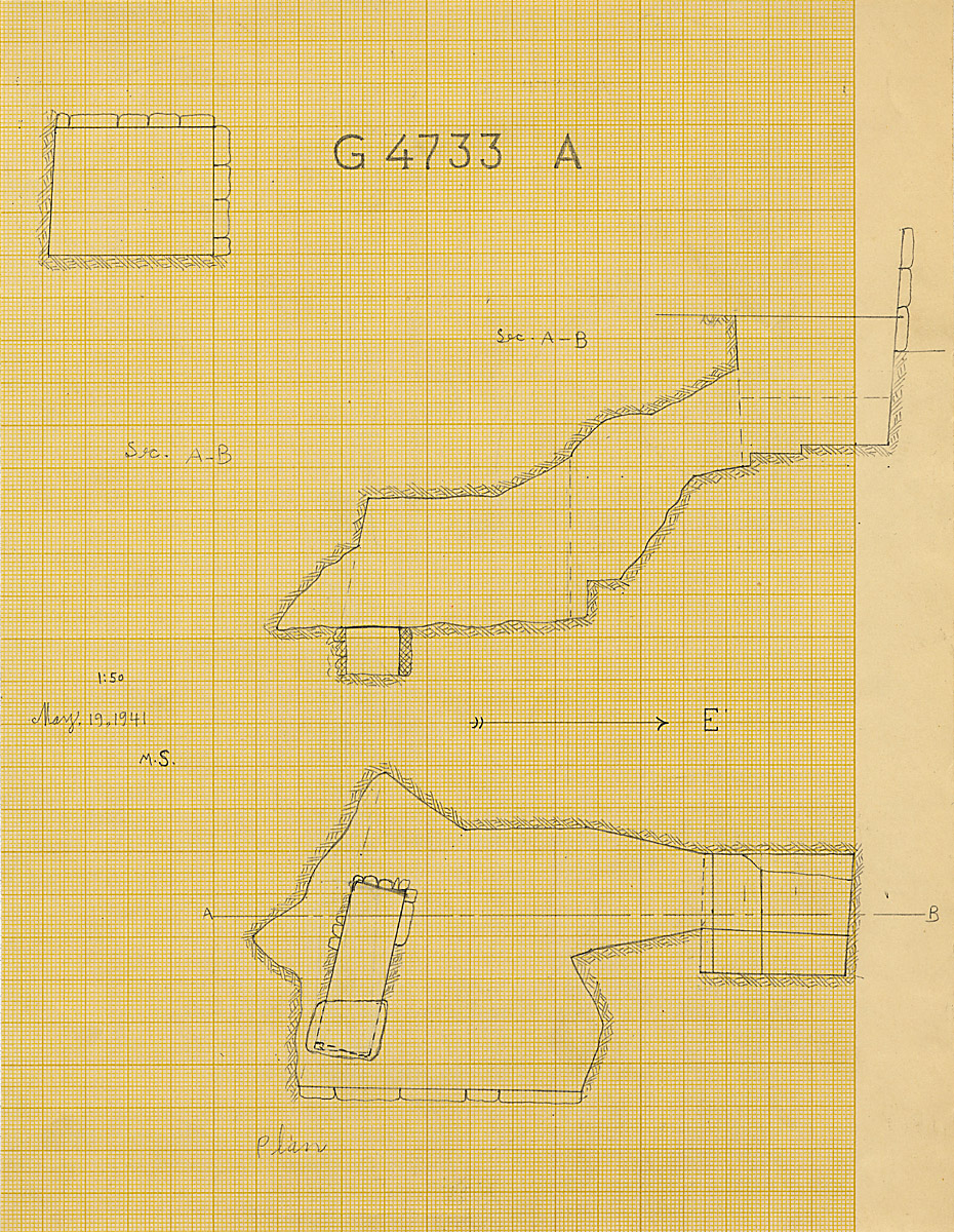 Maps and plans: G 4733, Shaft A