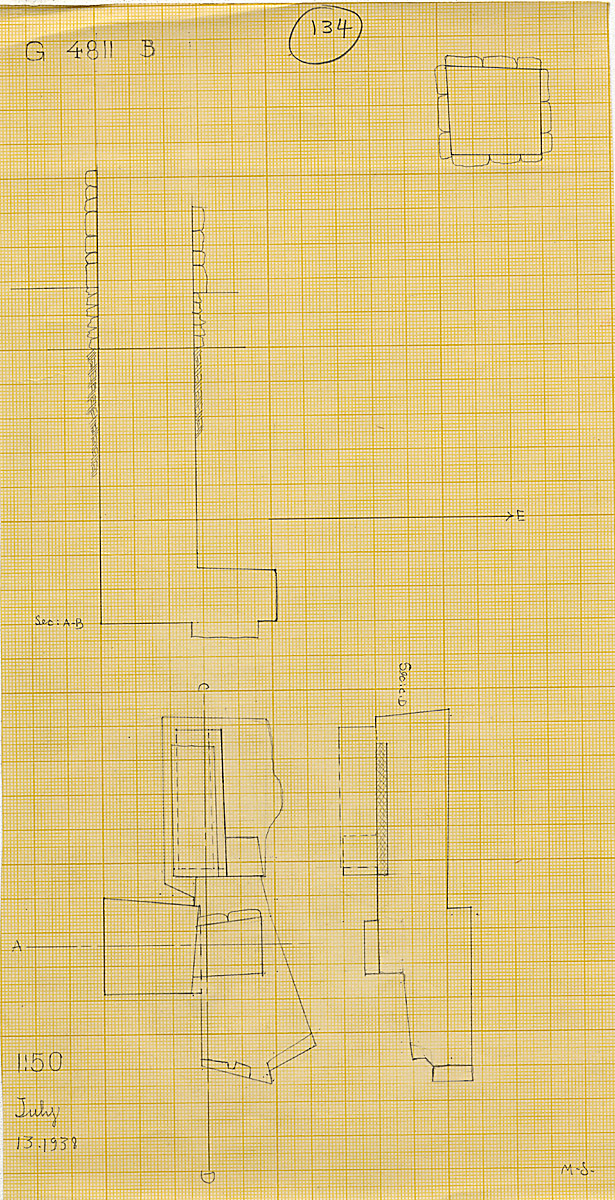 Maps and plans: G 4811+4812: G 4811, Shaft B