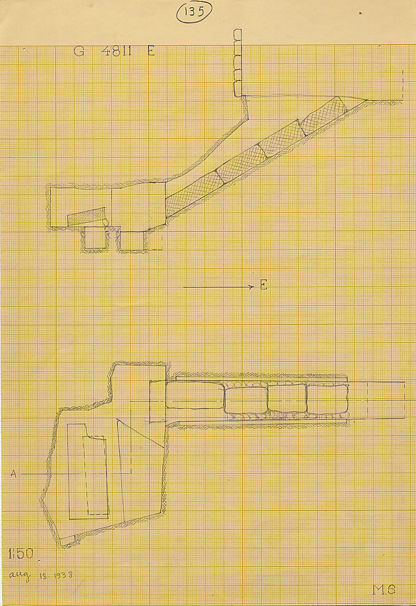Maps and plans: G 4811+4812: G 4811, Shaft E