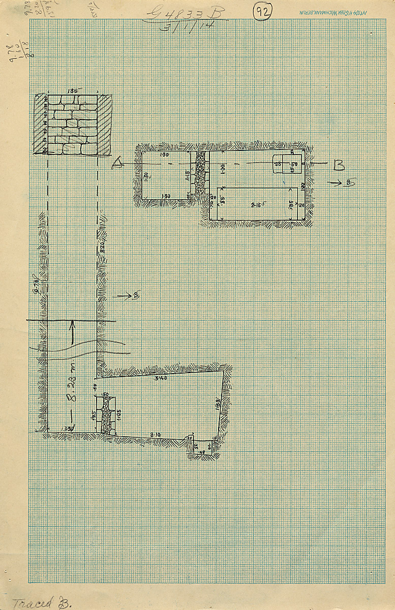 Maps and plans: G 4833, Shaft B