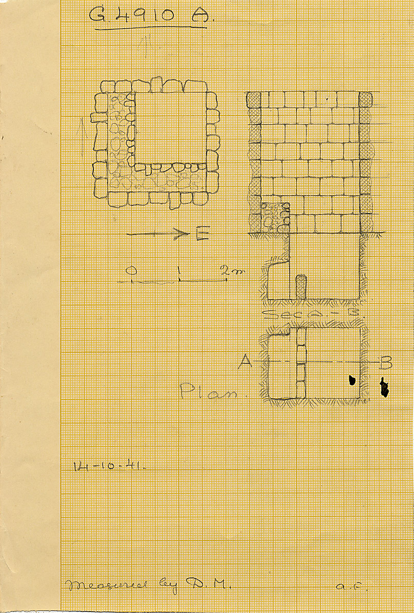 Maps and plans: G 4910, Shaft A