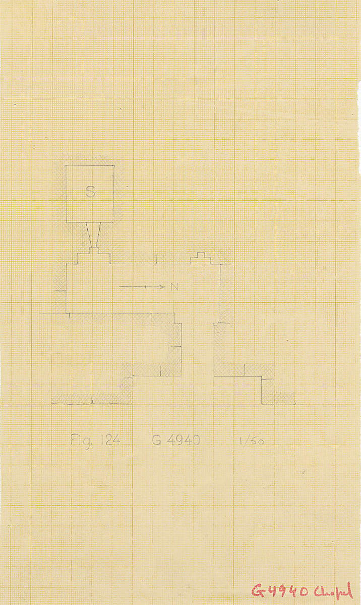 Maps and plans: G 4940, Plan of chapel