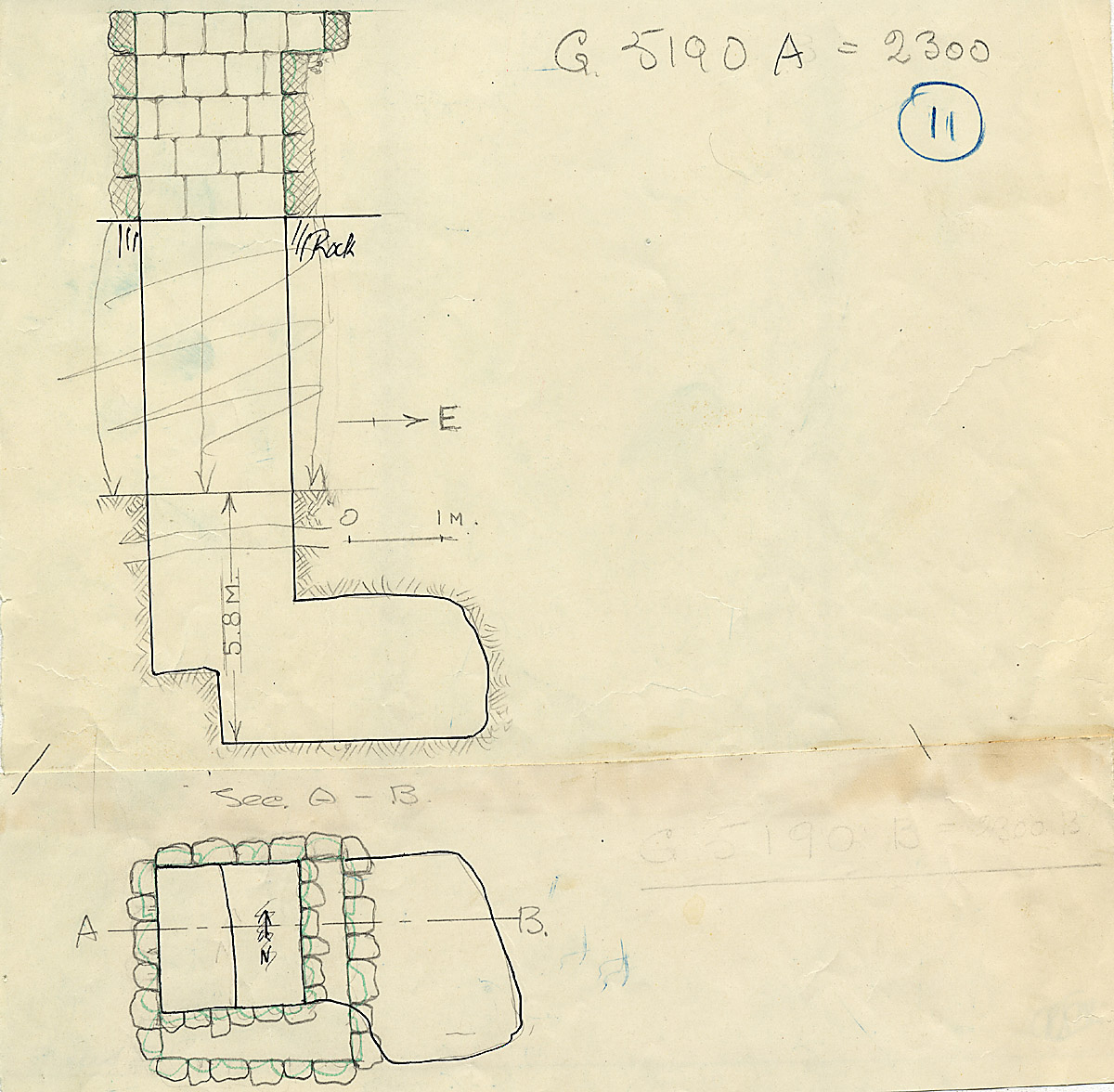 Maps and plans: G 2300 = G 5190, Shaft A