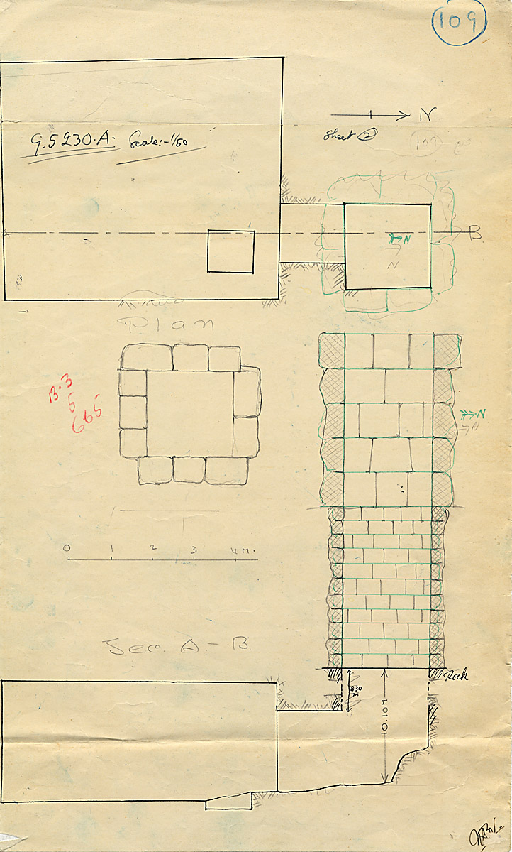 Maps and plans: G 5230, Shaft A