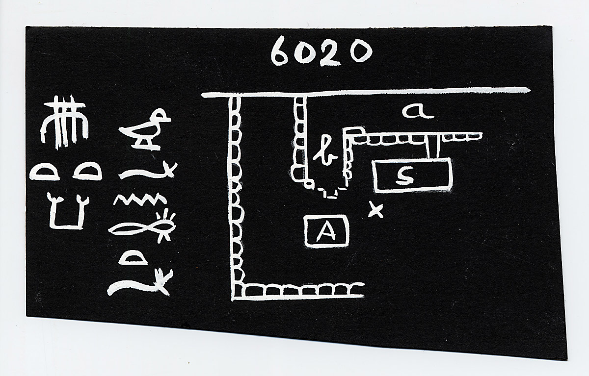 Maps and plans: Sketch plan of G 6020