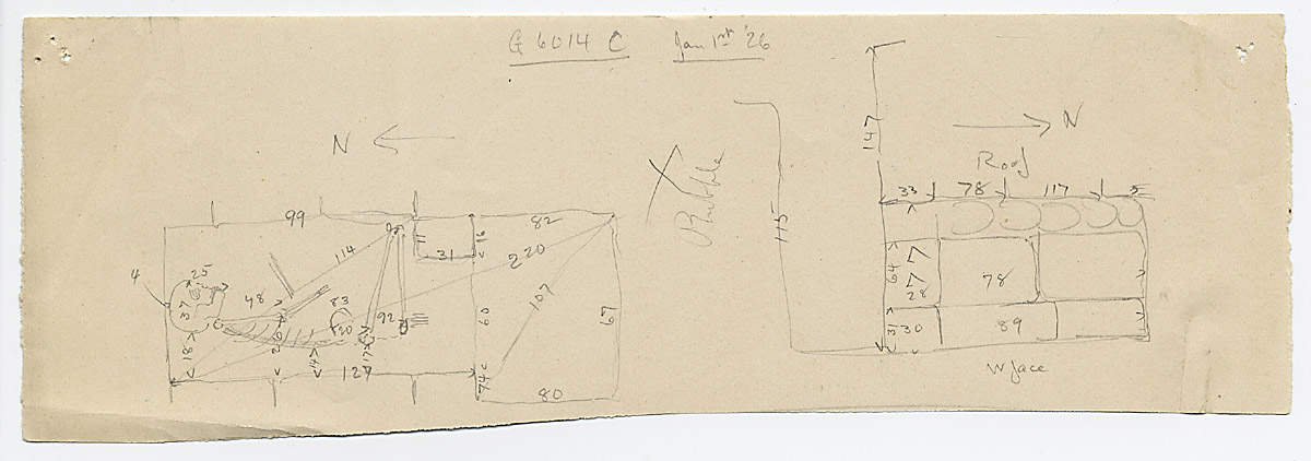 Maps and plans: G 6014, Shaft C