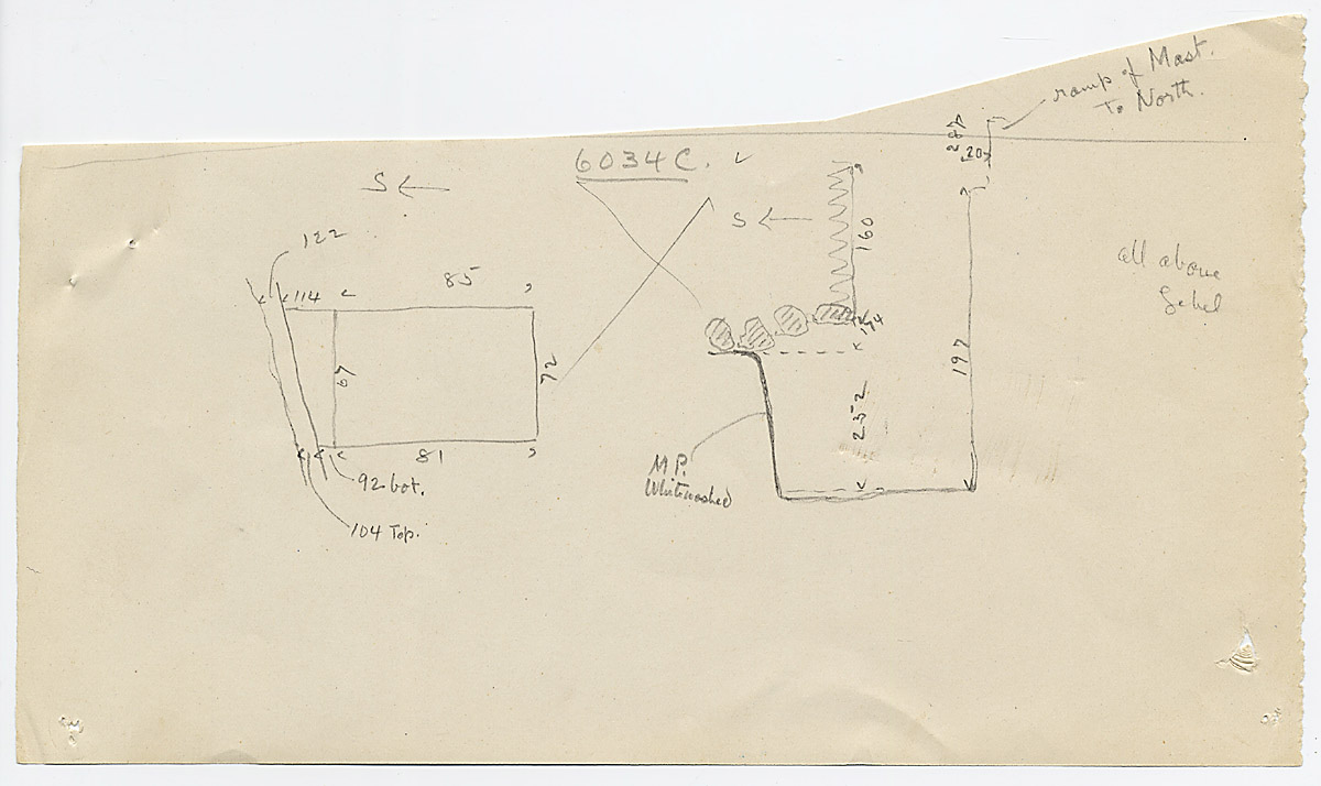 Maps and plans: G 6034, Shaft C