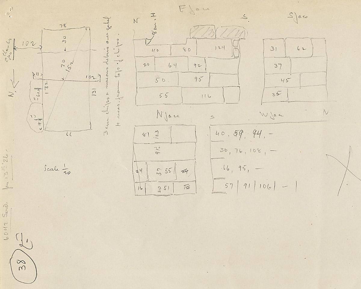 Maps and plans: G 6042, Serdab