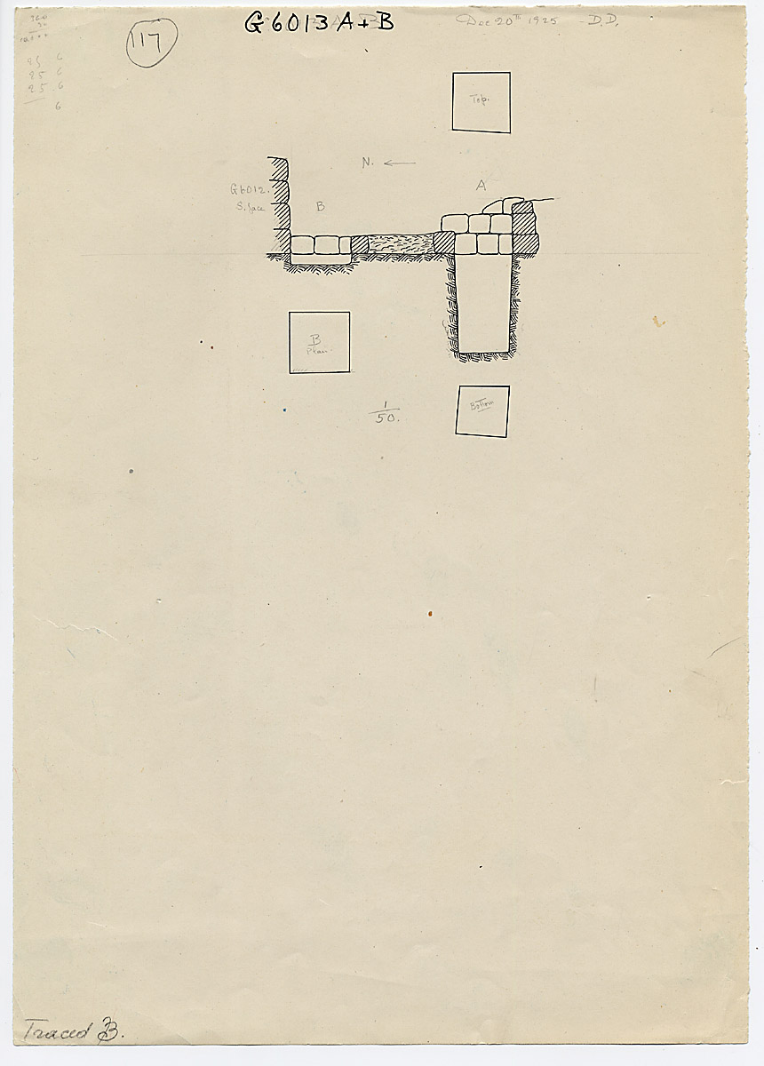 Maps and plans: G 6013, Shaft A and B