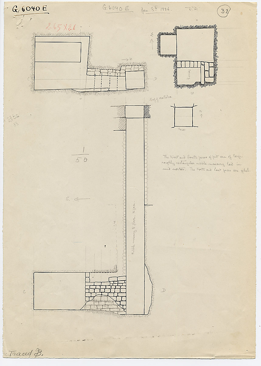 Maps and plans: G 6040, Shaft E
