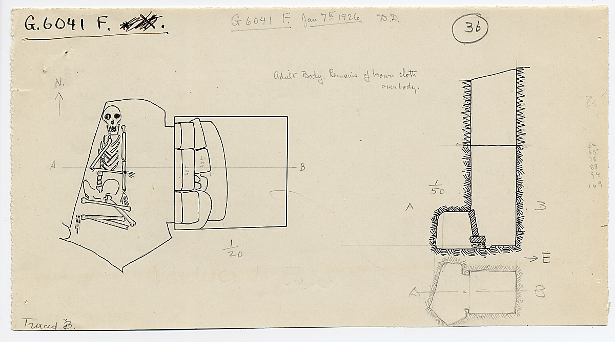 Maps and plans: G 6041, Shaft F