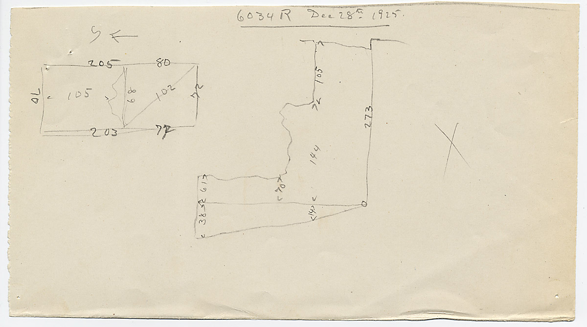 Maps and plans: G 6034, Shaft R