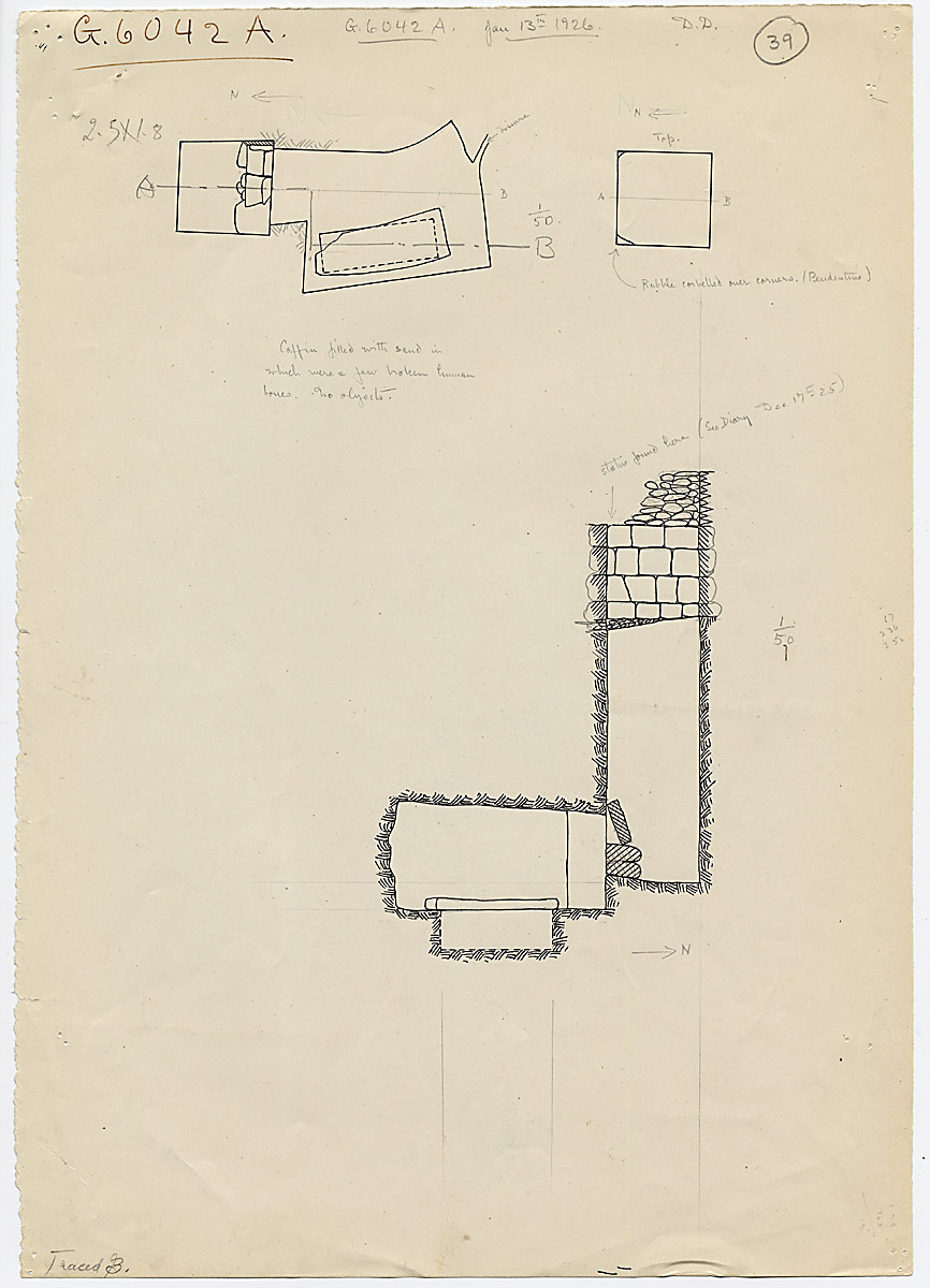 Maps and plans: G 6042, Shaft A