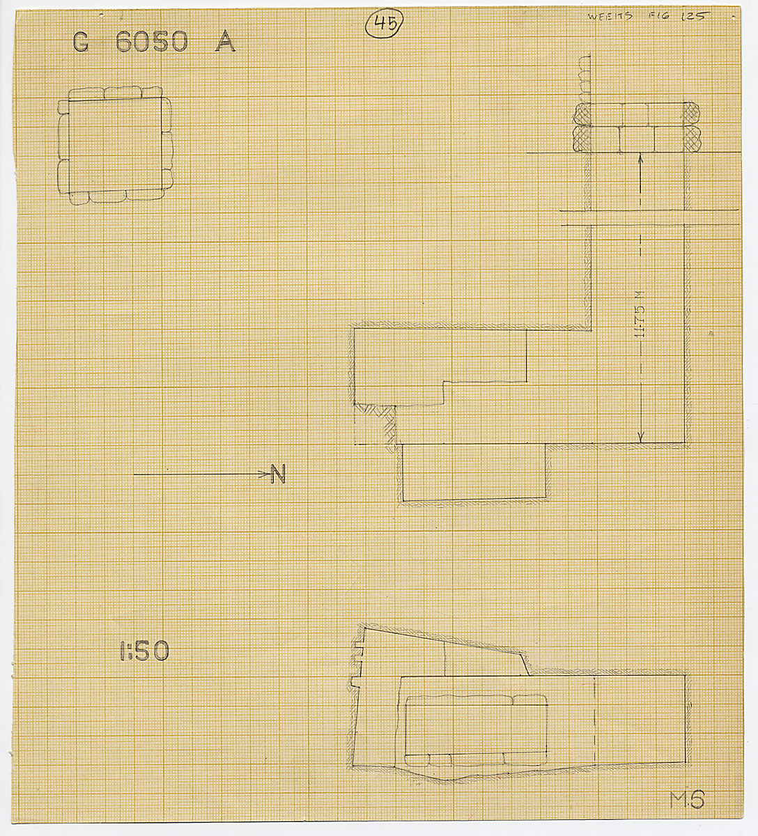 Maps and plans: G 6050, Shaft A
