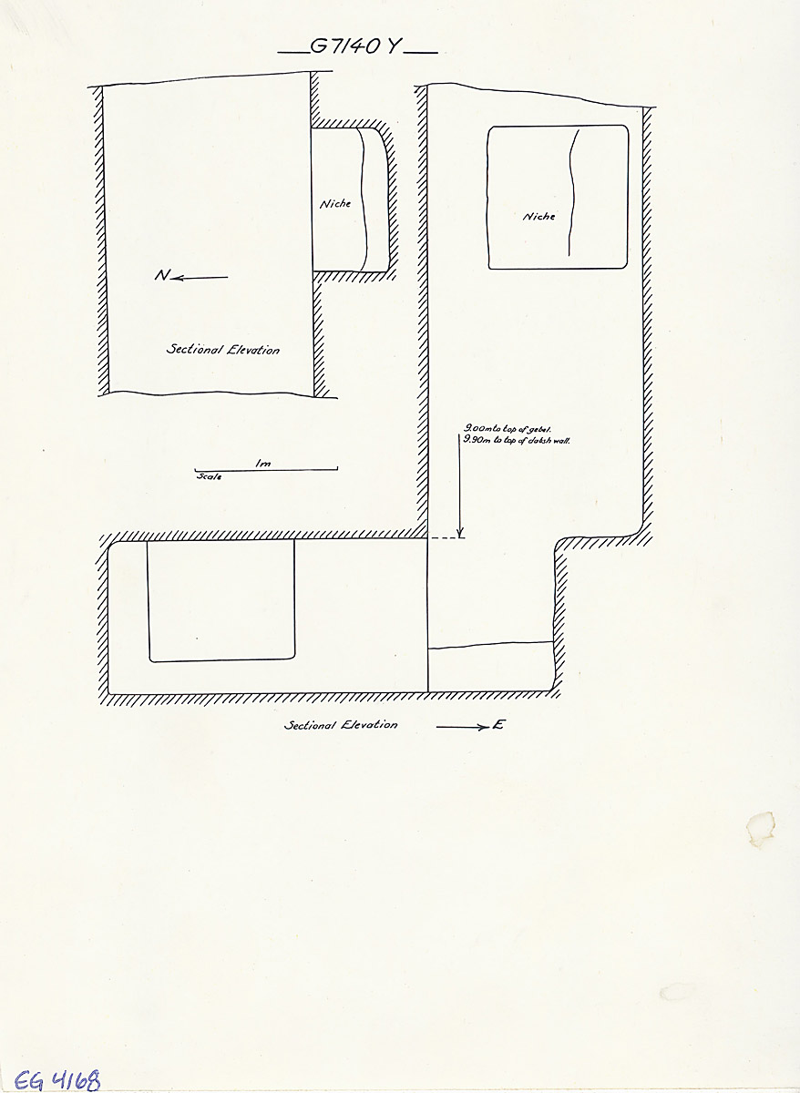 Maps and plans: G 7140, Shaft Y (= G 7135)