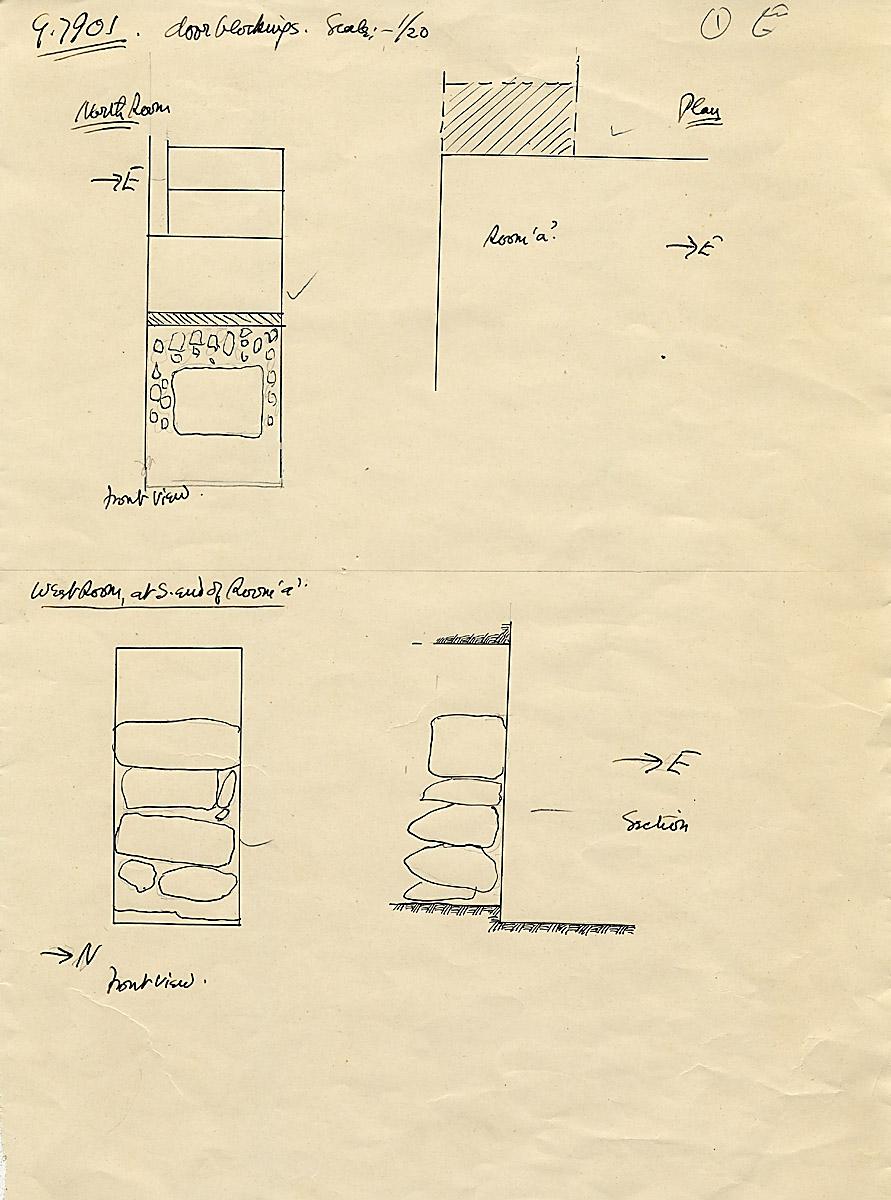 Maps and plans: G 7901, chapel door blocking