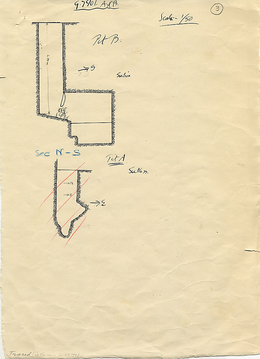 Maps and plans: G 7901, Shaft A and B