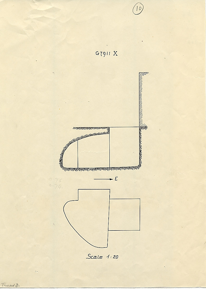 Maps and plans: G 7911, Shaft X