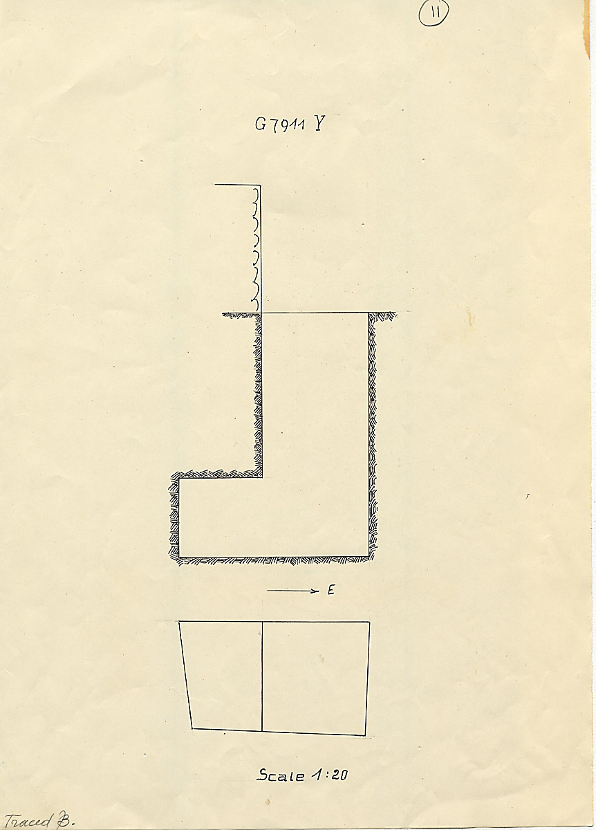 Maps and plans: G 7911, Shaft Y