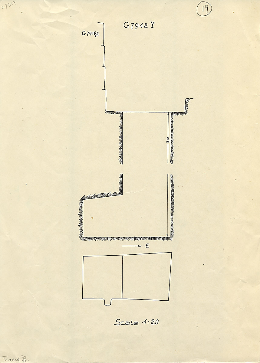 Maps and plans: G 7912, Shaft Y