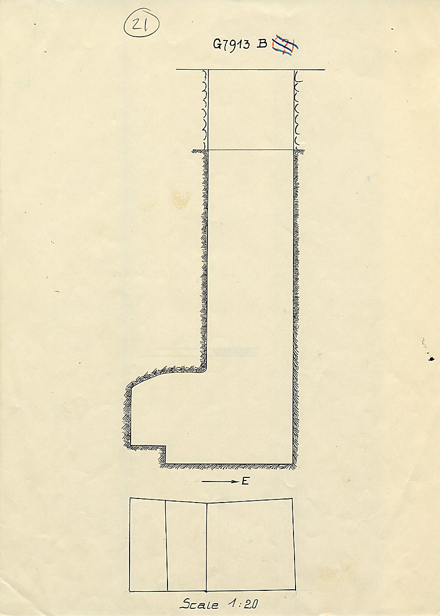 Maps and plans: G 7913, Shaft B