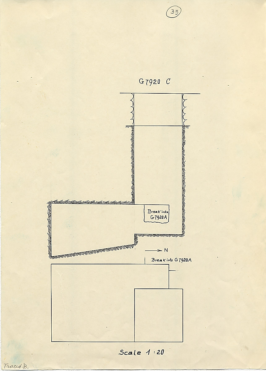 Maps and plans: G 7920, Shaft C