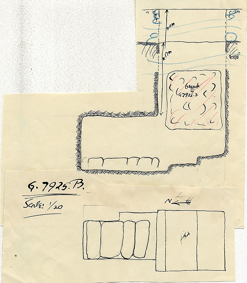 Maps and plans: G 7925, Shaft B