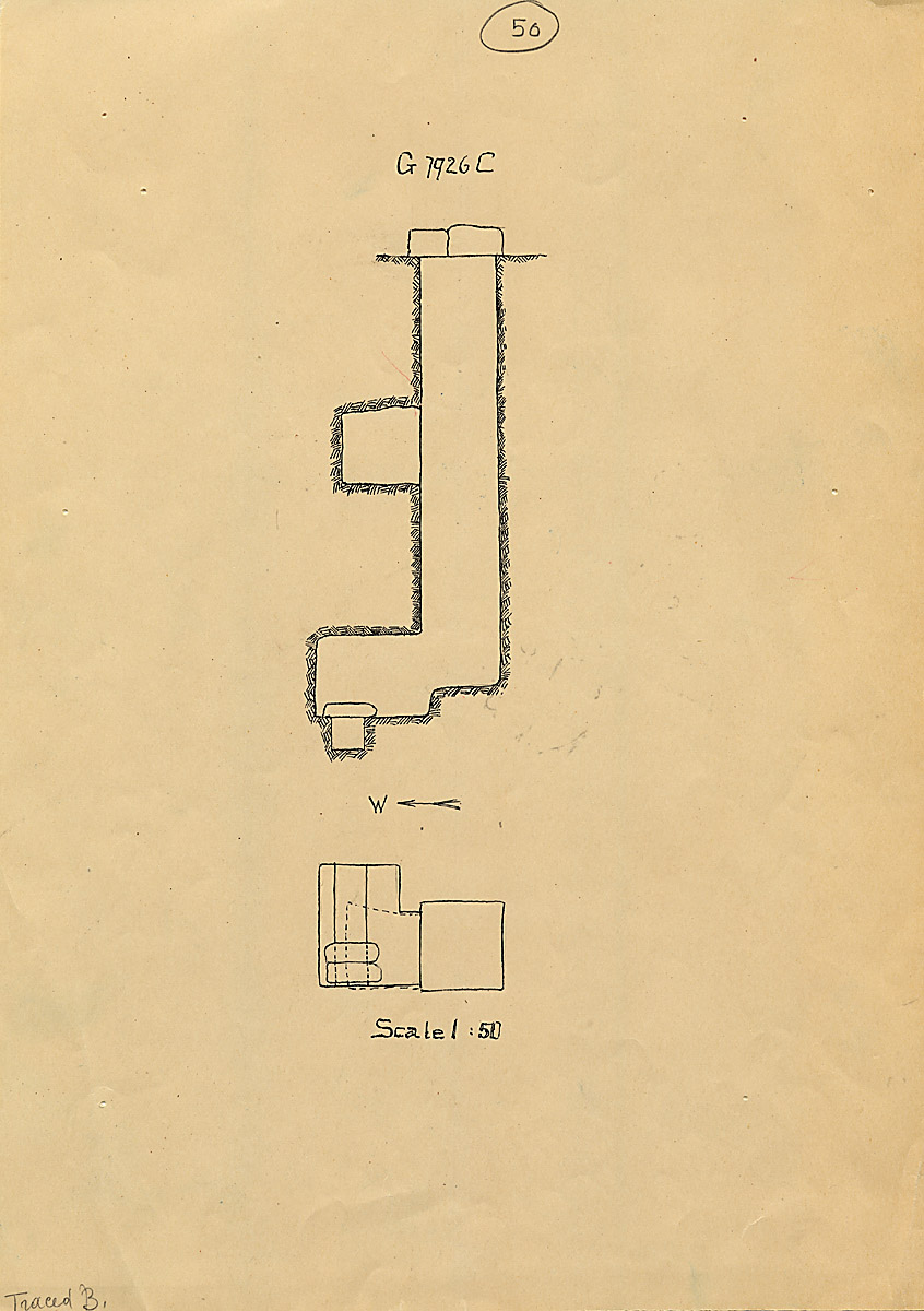 Maps and plans: G 7926, Shaft C
