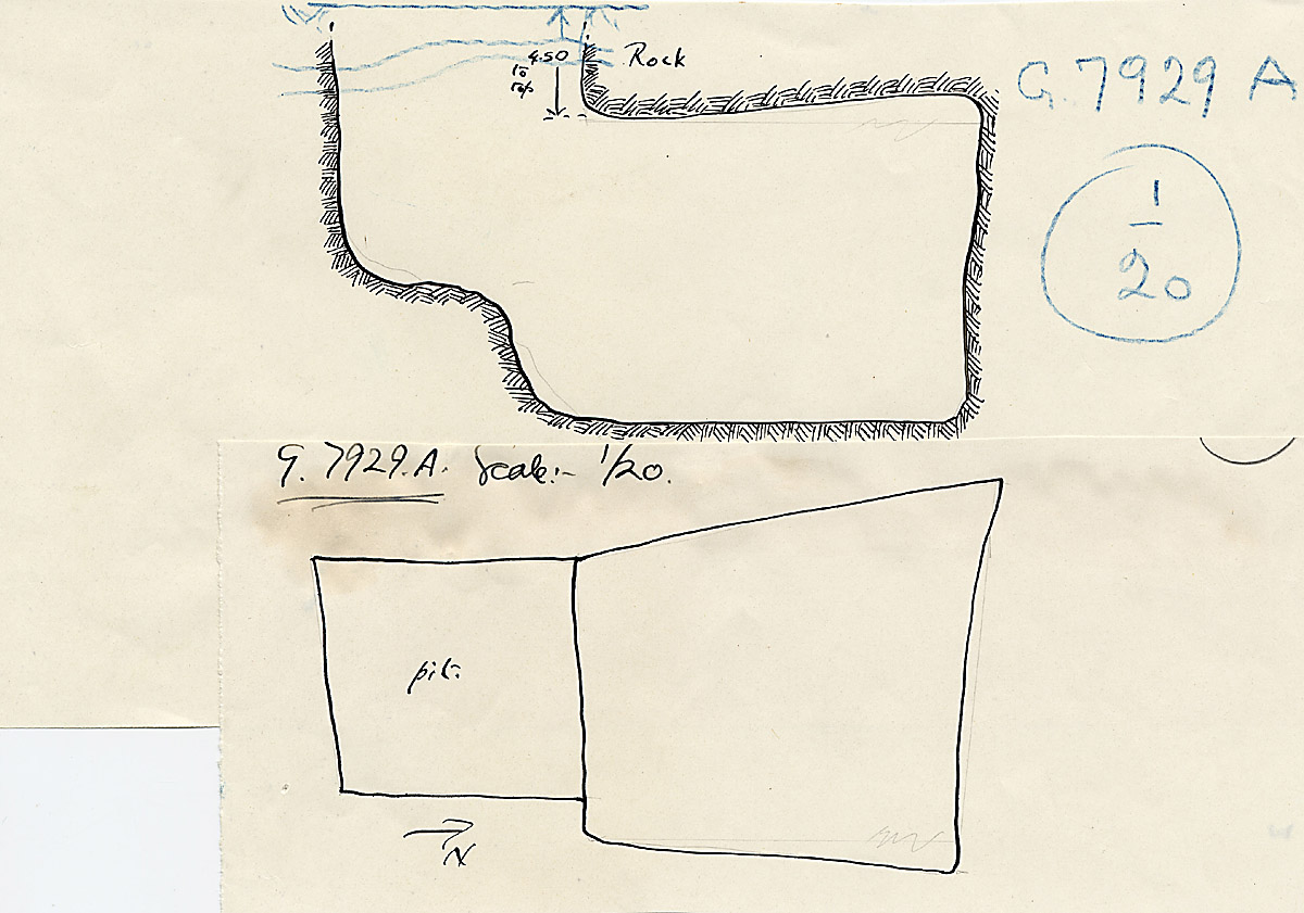 Maps and plans: G 7928+7929: G 7929, Shaft A
