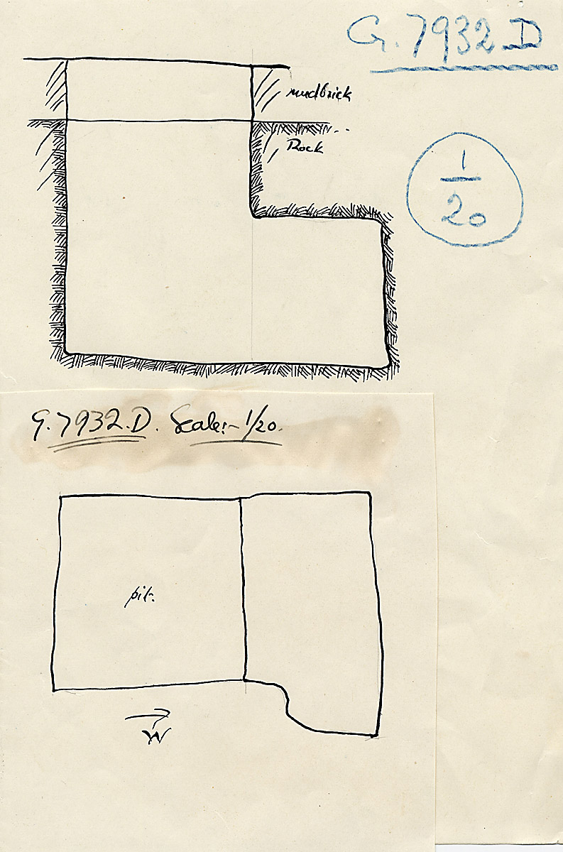 Maps and plans: G 7932, Shaft D