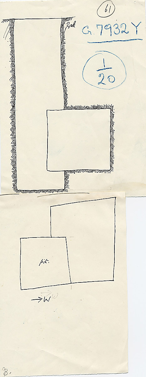 Maps and plans: G 7932, Shaft Y
