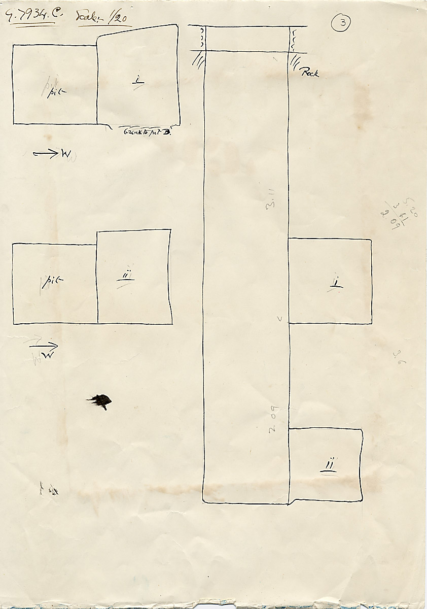 Maps and plans: G 7934, Shaft C