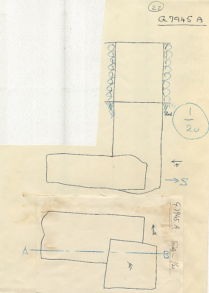 Maps and plans: G 7945, Shaft A