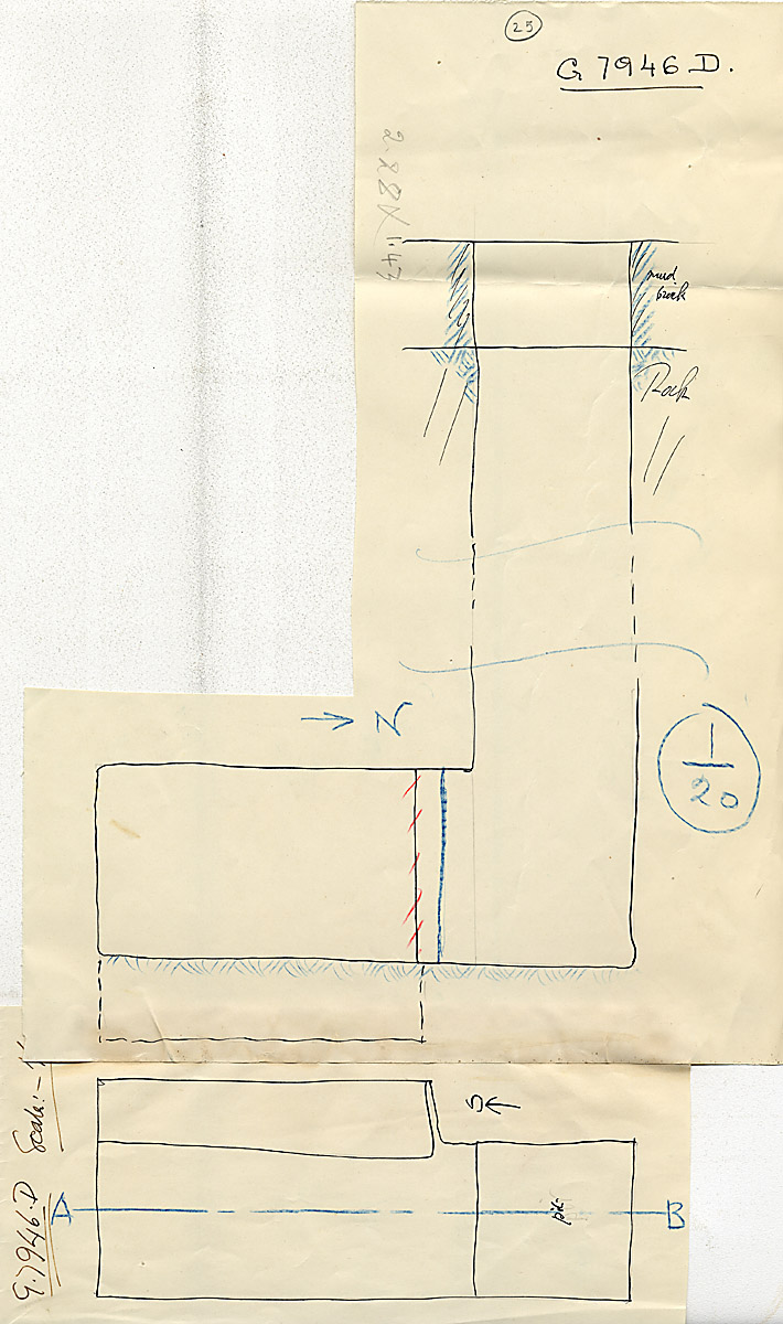 Maps and plans: G 7946, Shaft D