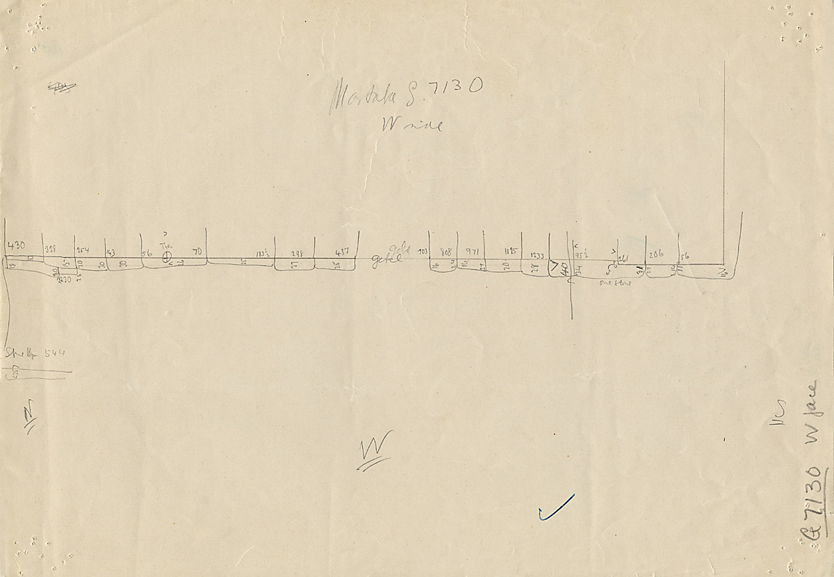 Maps and plans: G 7130-7140: G 7130, Sketch drawing of west face