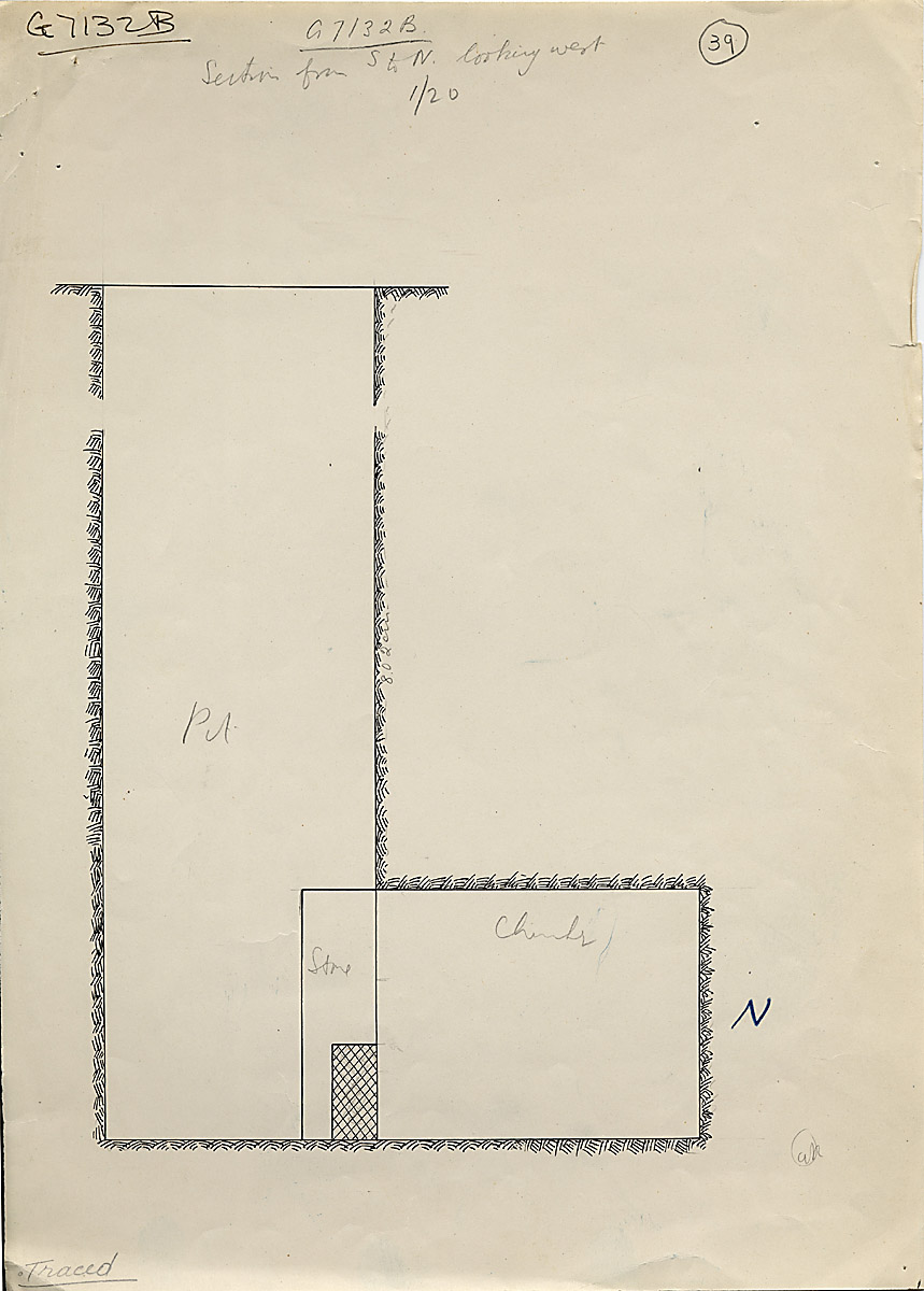 Maps and plans: G 7132, Shaft B