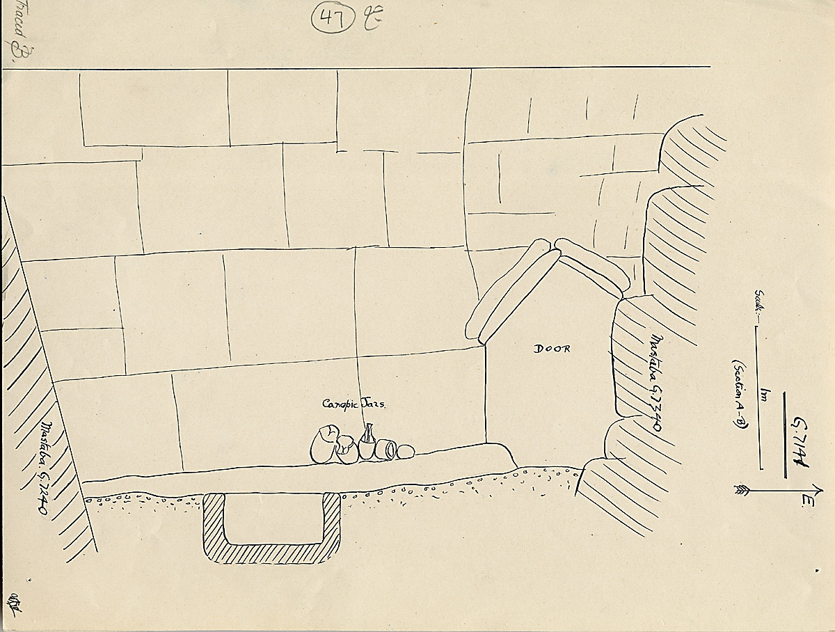 Maps and plans: G 7141, Exterior with Late Period arch
