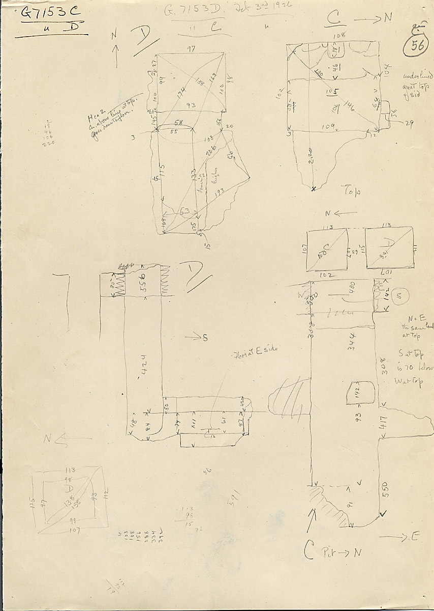 Maps and plans: G 7153, Shaft C and D