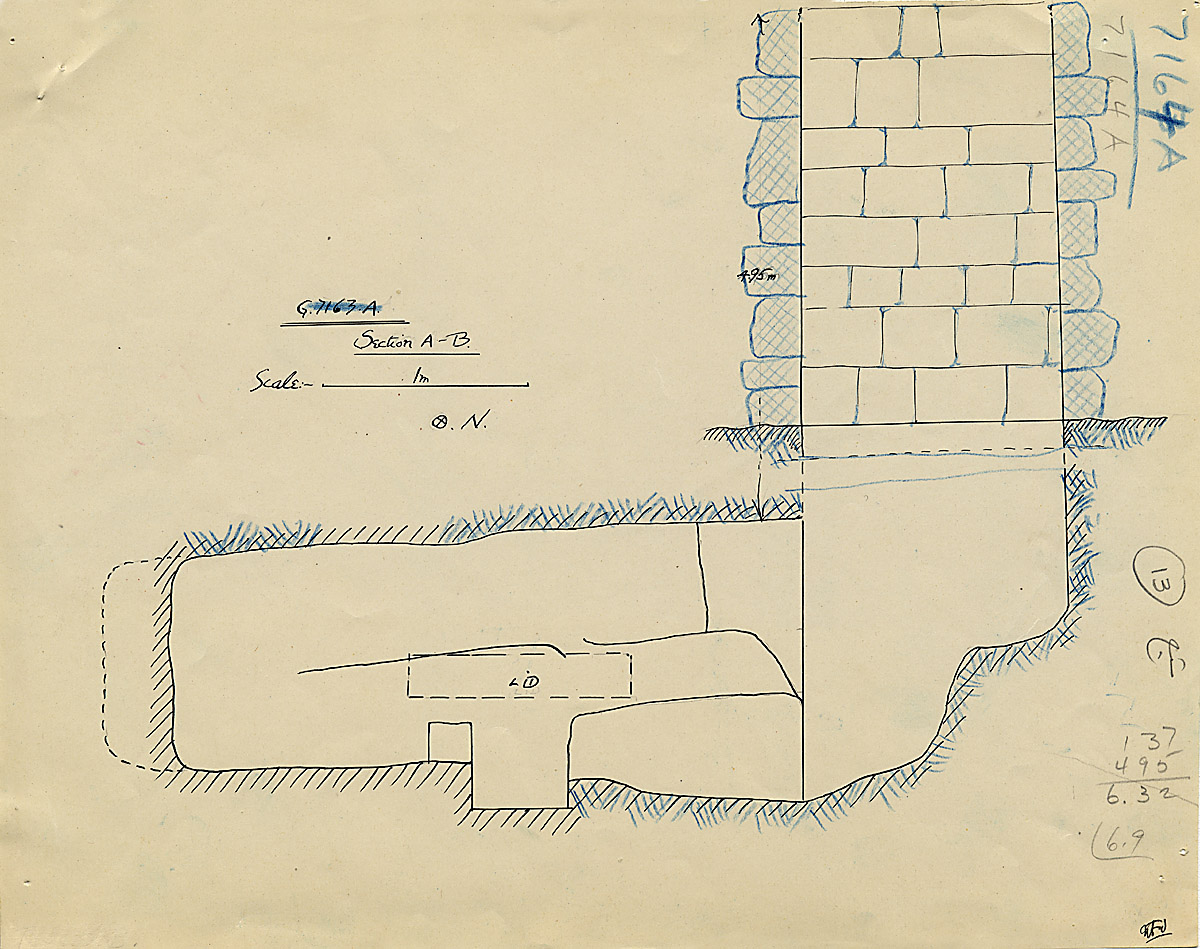Maps and plans: G 7164, Shaft A