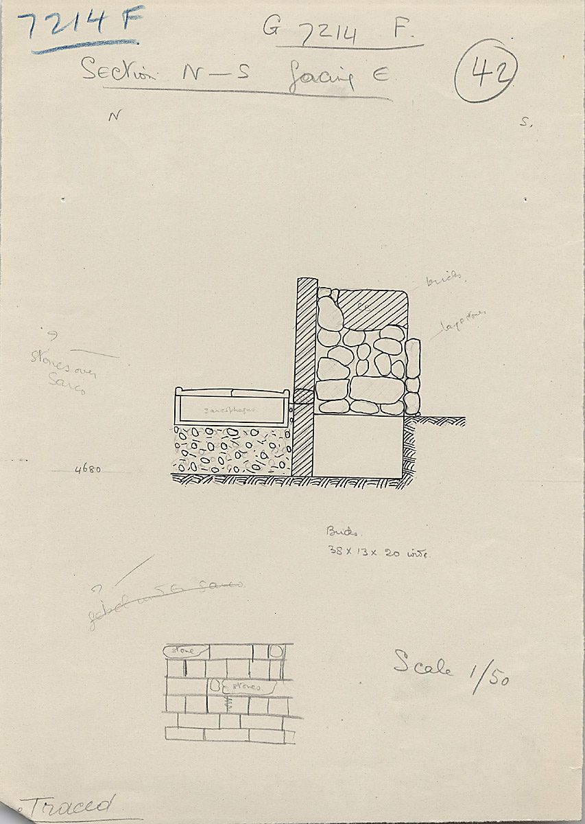 Maps and plans: G 7214, Shaft F