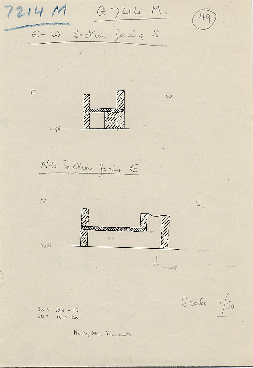 Maps and plans: G 7214, Shaft M