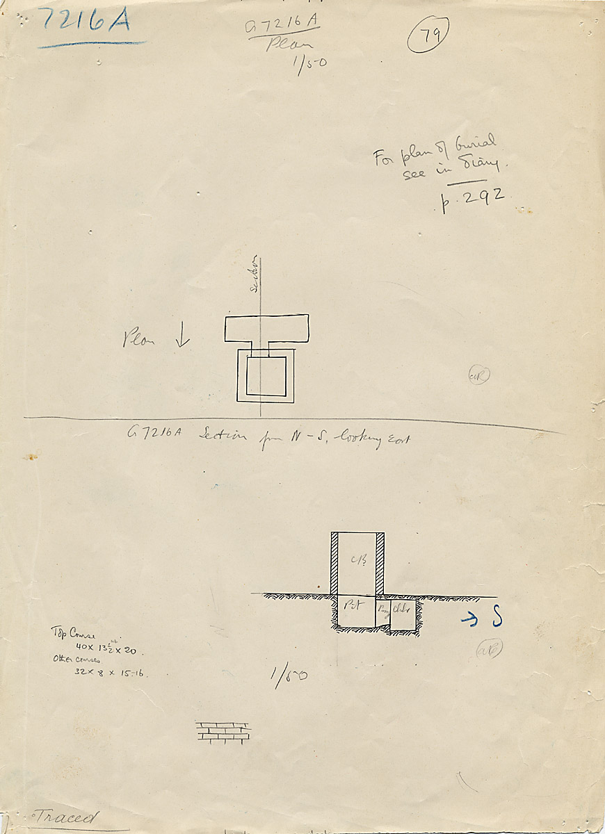 Maps and plans: G 7216, Shaft A