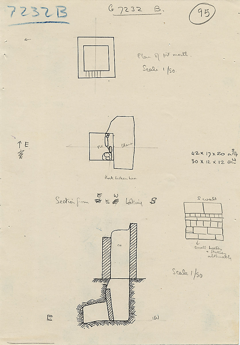 Maps and plans: G 7232, Shaft B