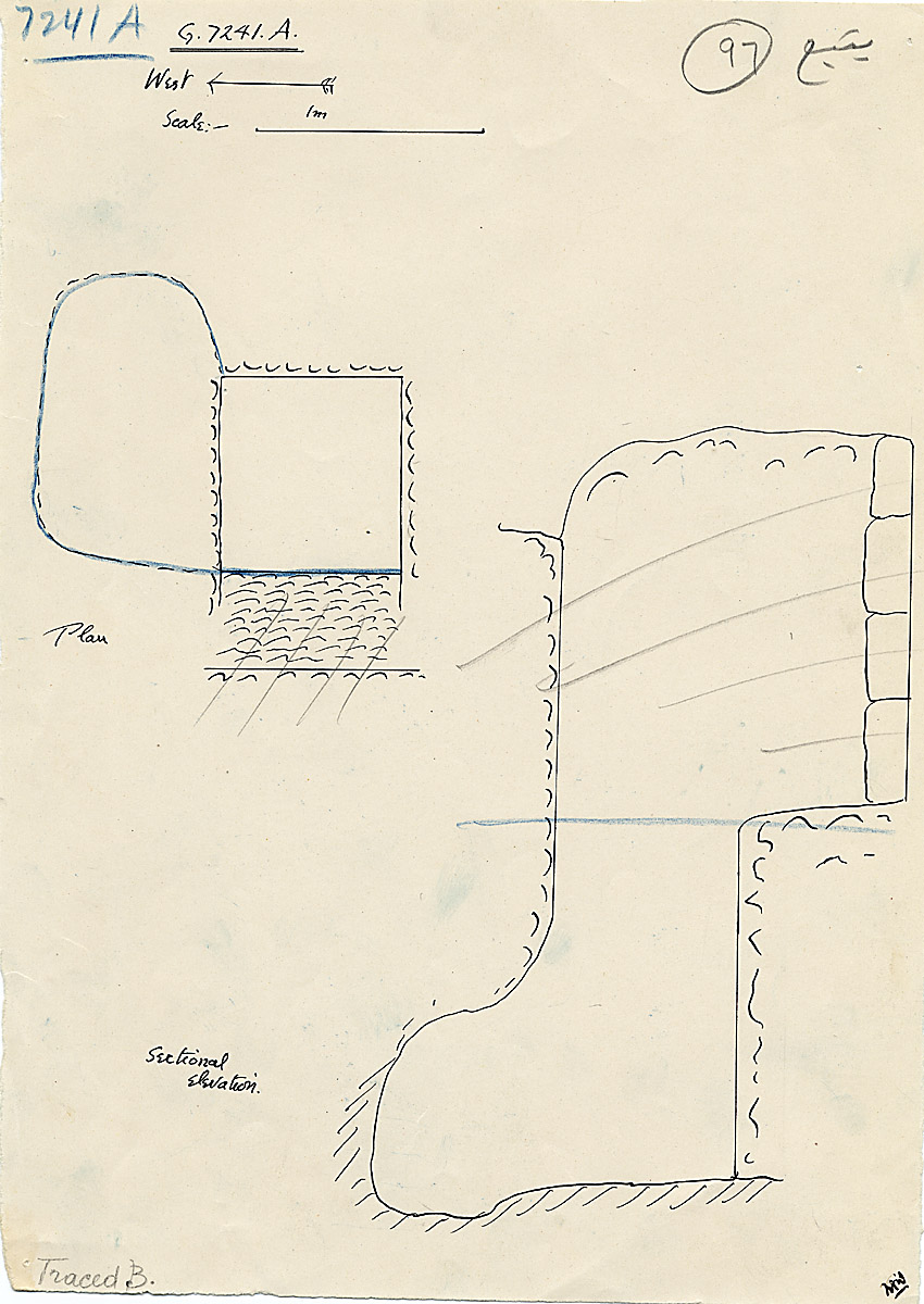 Maps and plans: G 7241, Shaft A