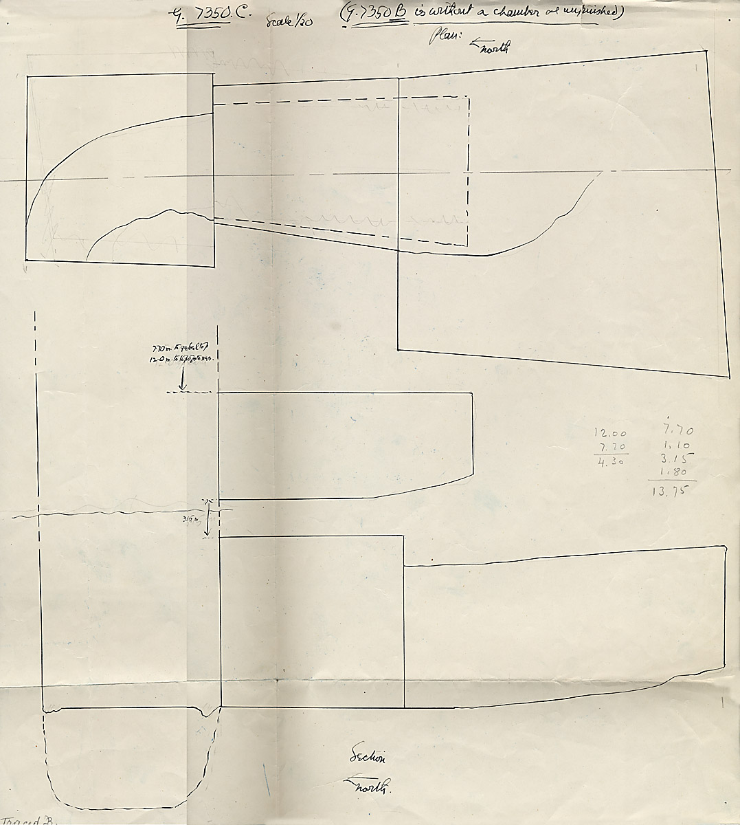 Maps and plans: G 7350, Shaft C