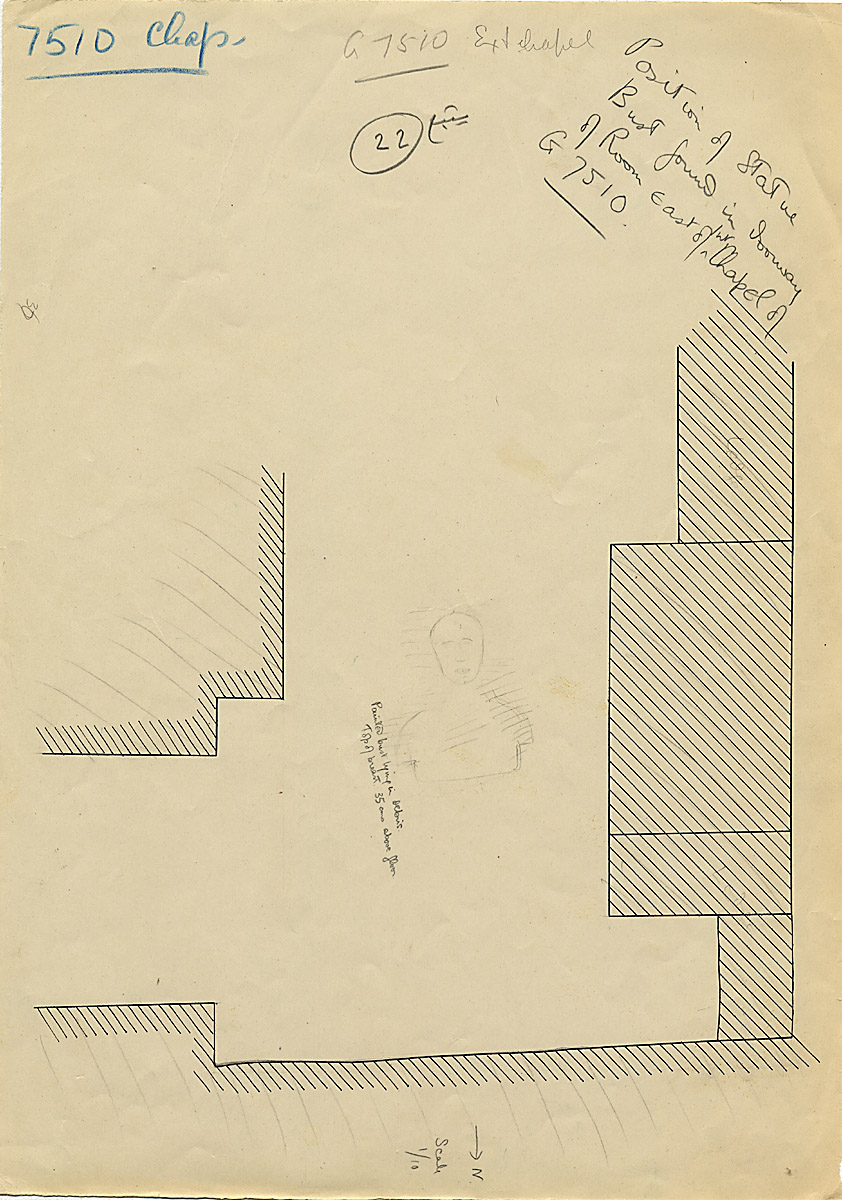 Maps and plans: G 7510, Partial plan of exterior chapel