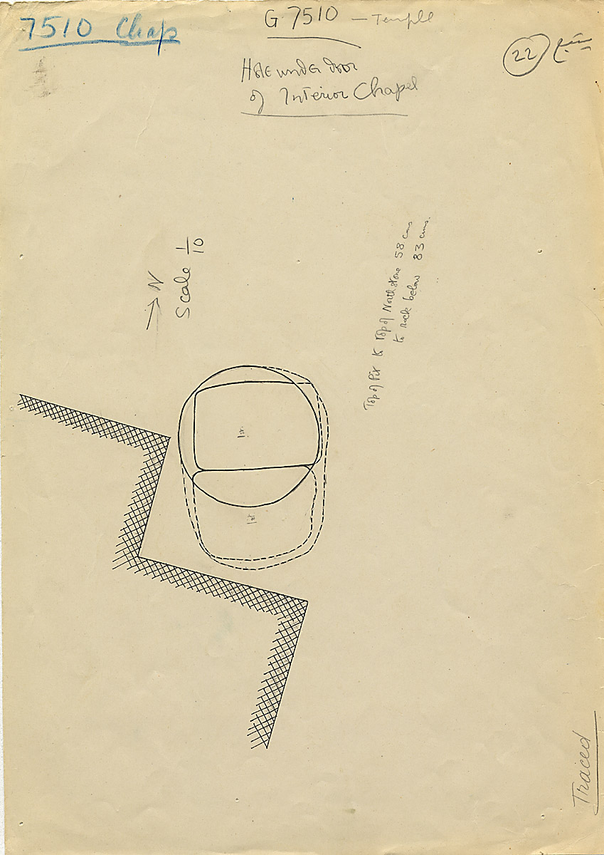 Maps and plans: G 7510, Partial plan of interior chapel