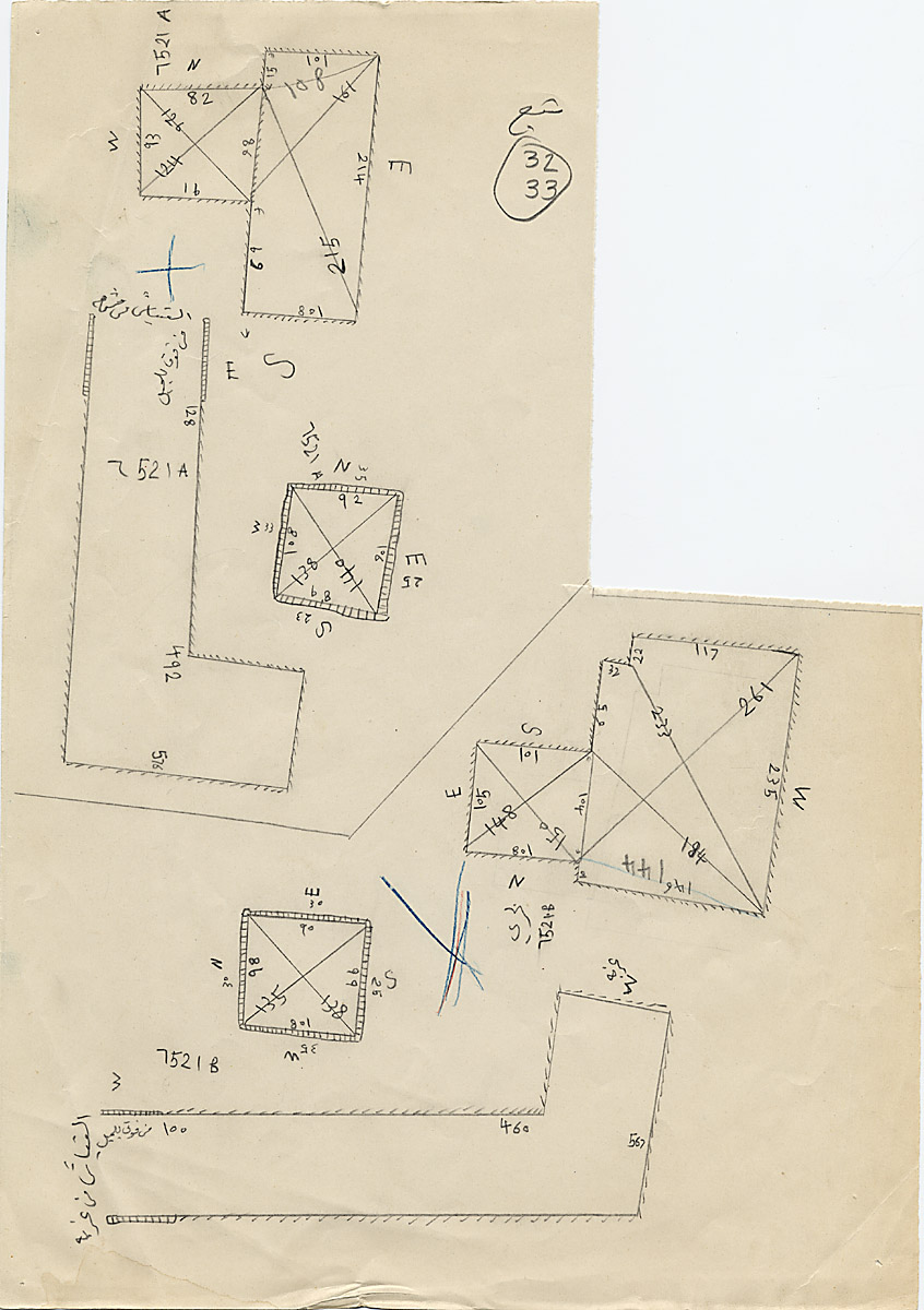 Maps and plans: G 7521, Shaft A and B
